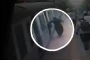 women fall down in platform