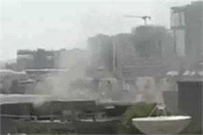 ahmedabad a fire in the building of isro