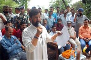 lal singh adressed refugees at kathua