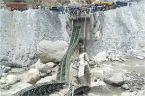 iron bridge collapses 4 injured in banihal