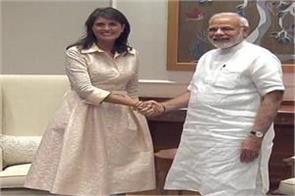 nikki haley meets prime minister narendra modi