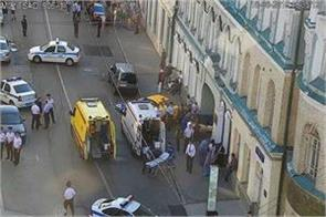 a big accident during fifa worldcup people were seen to be hit by the taxi