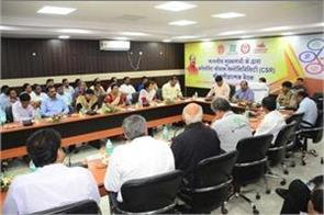 chief minister reviewed the works done under csr in jamshedpur