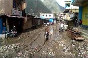 gangotri highway blocked due to heavy rains
