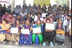 government employees given strike in the district collectorate
