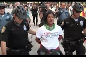 pramila jayapal arrested for protesting against trump s border policy