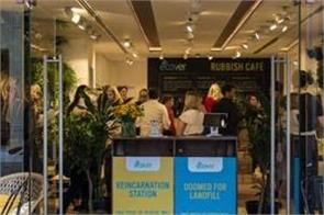 bring plastic waste and get free food in london rubbish cafe