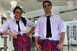 ias tina dabi will do lungi dance with husband athar