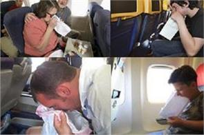 emergency landing as plane passenger s body odour causes others to vomit