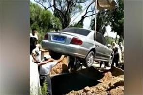 video man granted dying wish buried with his car