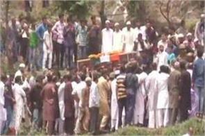 mortal remains of martyr aurangzeb reaches his village