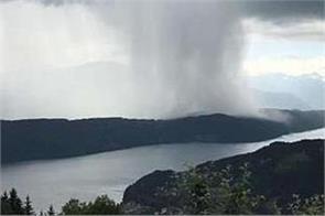 incredible cloudburst over austria s lake millstatt video viral