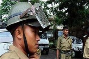 police officer injured in violent clash