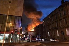 fire in scotland s art school empty of nearby buildings