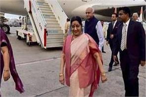 sushma swaraj plane missing from mauritius