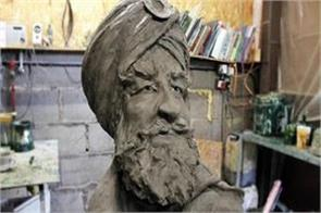 statue made in honor of sikh soldiers fighting for britain