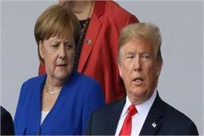 jubani jang between trump merkel during the nato conference