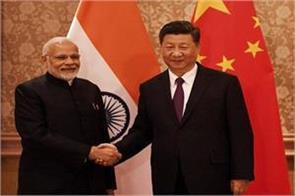 modi meets chinese president shi third meeting in four months