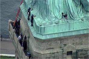 women on the statue of liberty to celebrate their conditions
