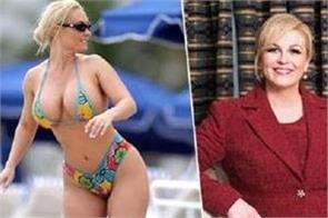 kroatian president s bikini photos impress and fool the internet