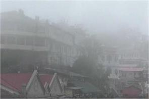 mussoorie tourists also suffered with heavy weather impact