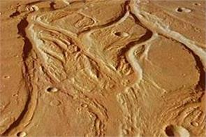 rain water carved mars  surface
