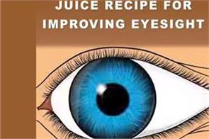 juice recipe for improving eyesight