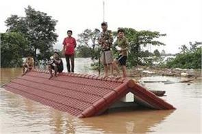 19 people killed in laos 3000 stranded due to dam collapse