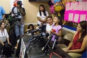6 years old girl who fueled opposition to splitting families joins mom