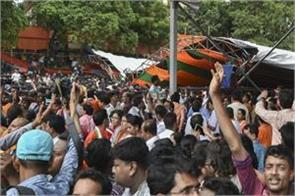 center seeks report from mamta government on falling tents in modi rally