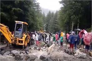 gangotri highway closed due to heavy rains