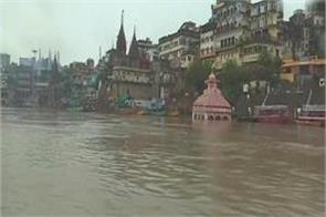 ganga river in varanasi near danger mark floods increase