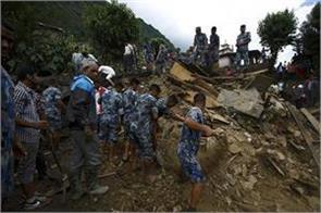 landslide and gruesome rain in nepal 8 people die