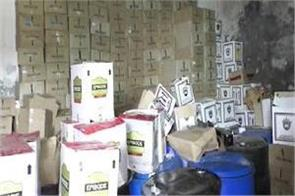 agra police raid illegal liquor factory busted