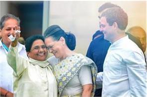 coalition between congress and mayawati