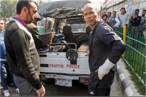 basant rath slapping a man in srinagar