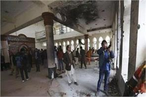 suicide attack in afghanistan mosque 39 killed at least 80 wounded