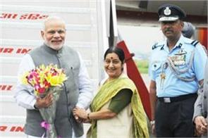 modi repose to sushma breaking rules