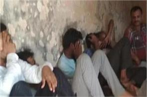 demolition of gang rioting in kgmu seven arrested including gangster