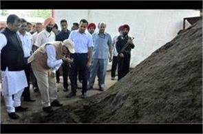 administrator visited to dumping ground in dadu majra