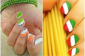 try this fabulous independence day nail arts design
