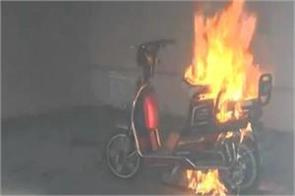 electric scooter bursts into flames inside flat close shave for family