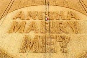 uk girlfriend prays for wedding proposal at maize farm