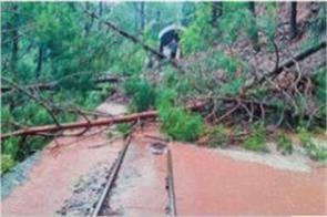 land sliding closed kalka shimla track