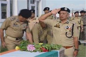 tribute paid to police martyr
