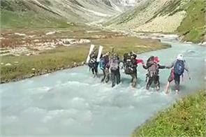 the 10 member team returned after completing the chhitkul track