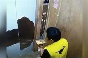chinese delivery man eats customer s meal video viral