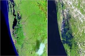nasa released the picture before and after the flood