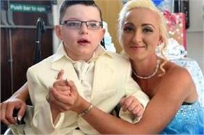7 year old boy marries mother like fairytale wedding