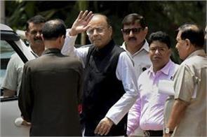 jaitley arrives in rajya sabha after 3 months